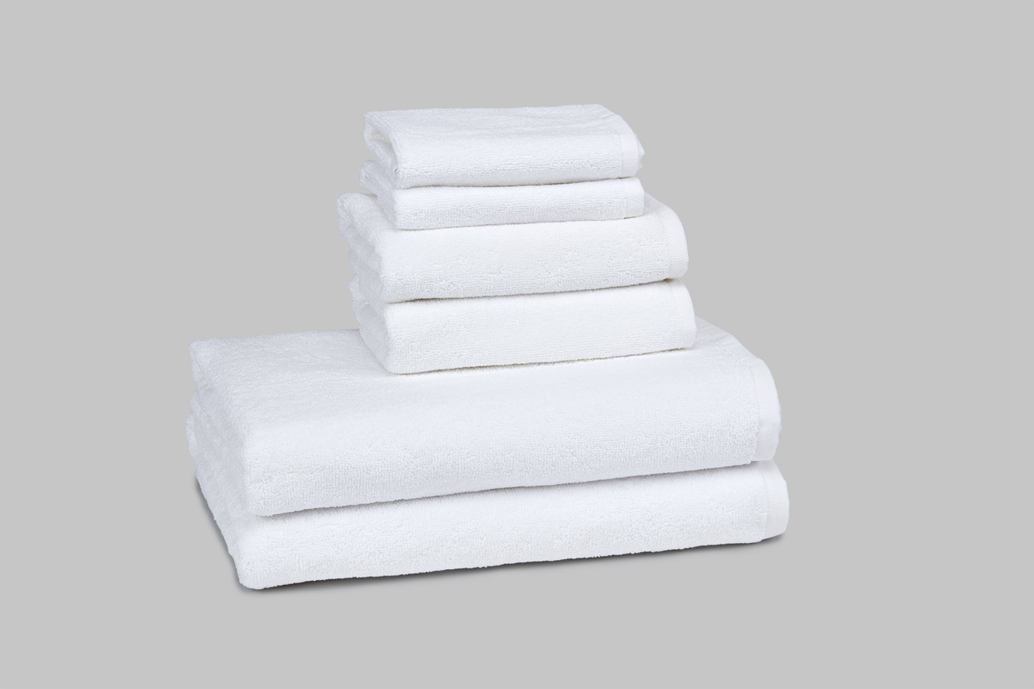 Double Loop Towel – White